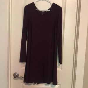 Long Sleeved Maroon Dress